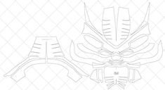 Sub Zero Mask Template Mortal Kombat Saibot Sub Zero Mask Diy Pdf Template