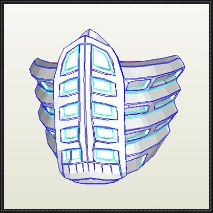 Sub Zero Mask Template Pin by Papercraft Square On Paper Craft Square