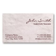 Substitute Teachers Business Cards 1000 Images About Substitute Teacher Business Cards On