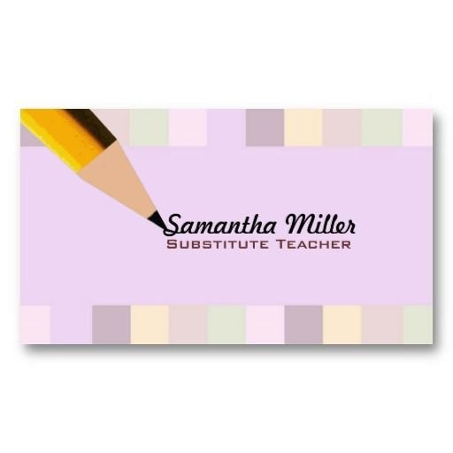 Substitute Teachers Business Cards 25 Best Ideas About Teacher Business Cards On Pinterest