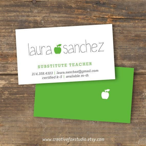 Substitute Teachers Business Cards 36 Best Images About Cartes On Pinterest