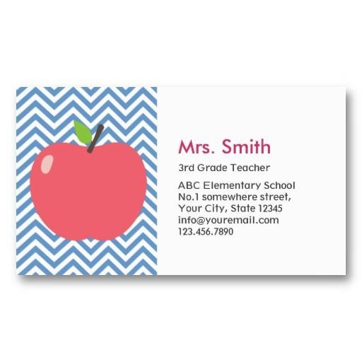 Substitute Teachers Business Cards Best 25 Teacher Business Cards Ideas On Pinterest