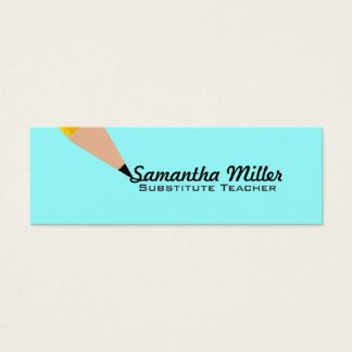 Substitute Teachers Business Cards Math Teacher Gifts On Zazzle