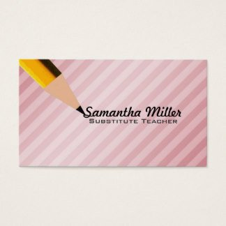 Substitute Teachers Business Cards Substitute Teacher Business Cards & Templates