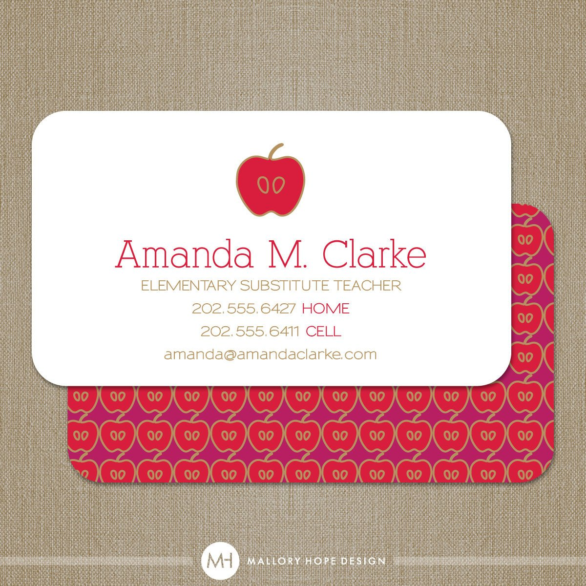 Substitute Teachers Business Cards Teacher Business Card or Substitute Teacher by