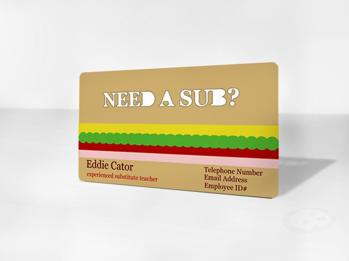 Substitute Teachers Business Cards the Importance Of Business Cards for Subs Sub Sidekick Blog