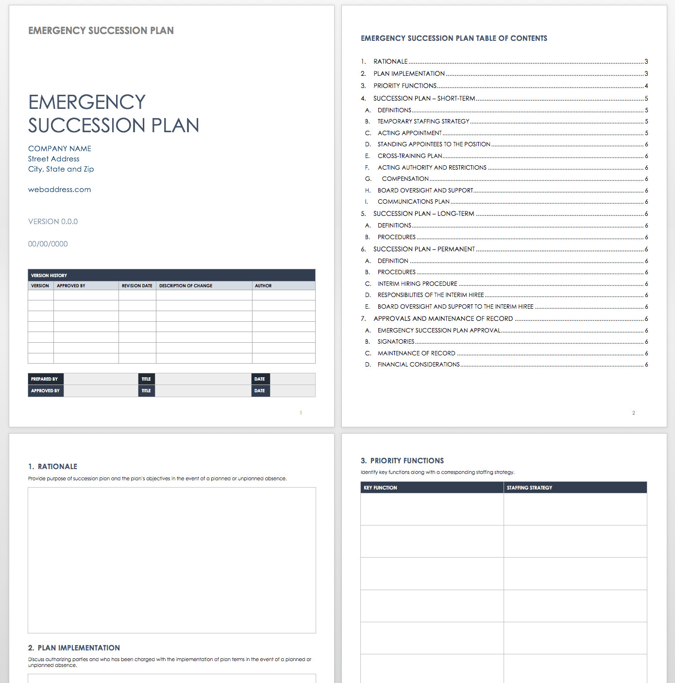 Succession Planning Template Excel Free Succession Planning Templates