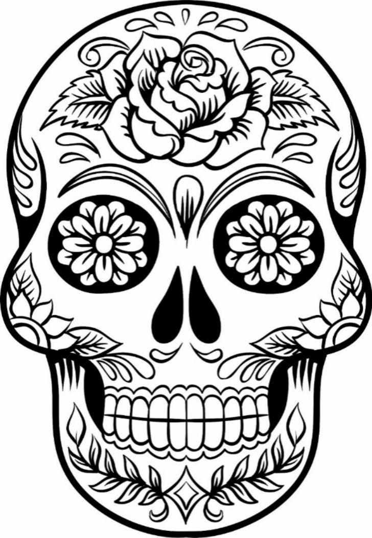 Sugar Skull Drawing Template Best 25 Sugar Skull Drawings Ideas On Pinterest