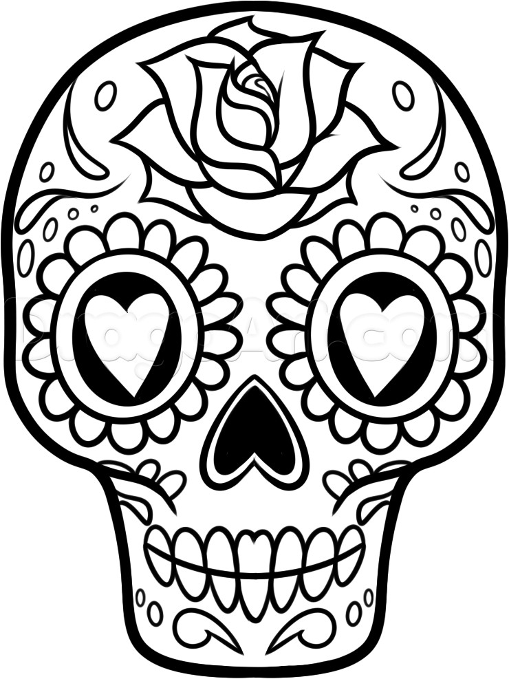Sugar Skull Drawing Template How to Draw A Sugar Skull Easy Step by Step Skulls Pop
