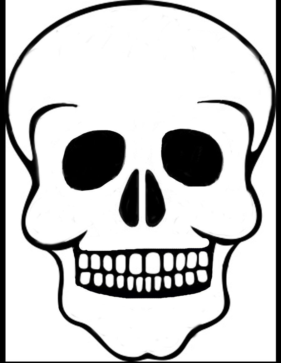 Sugar Skull Drawing Template Skeleton Skull Drawing at Getdrawings