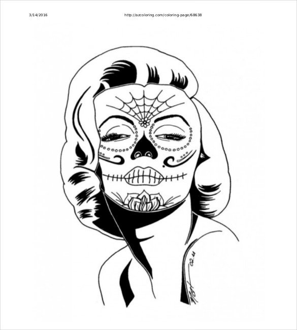 Sugar Skull Drawing Template Skull Drawing Template – 14 Free Pdf Documents Download