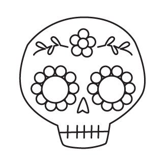 Sugar Skull Drawing Template Studio Longoria Tutorial Sequined Sugar Skull Hairclip Pin