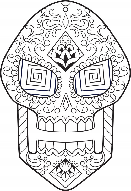Sugar Skull Drawing Template Sugar Skull Drawing Template at Getdrawings