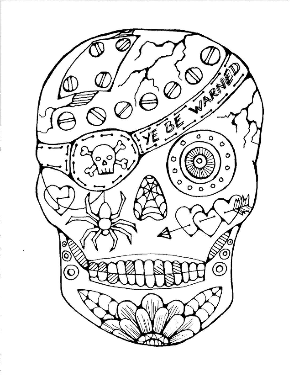 Sugar Skull Drawing Template Sugar Skull Drawing Template at Getdrawings
