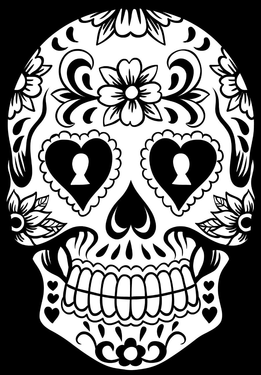 Sugar Skull Drawing Template Sugar Skull Wreath
