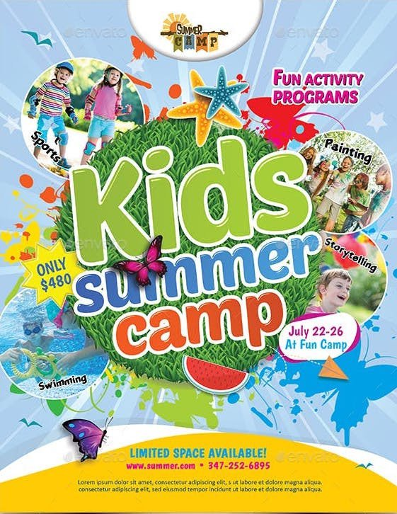 Summer Camp Flyer Template 10 Beautiful Summer Camp Flyer Templates