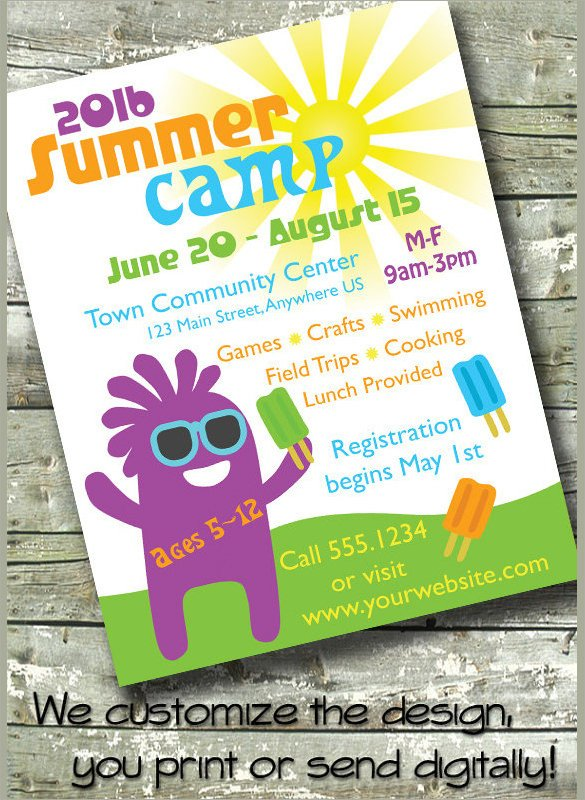 Summer Camp Flyer Template 17 Summer Camp Flyer Templates Word Psd Ai Eps Vector