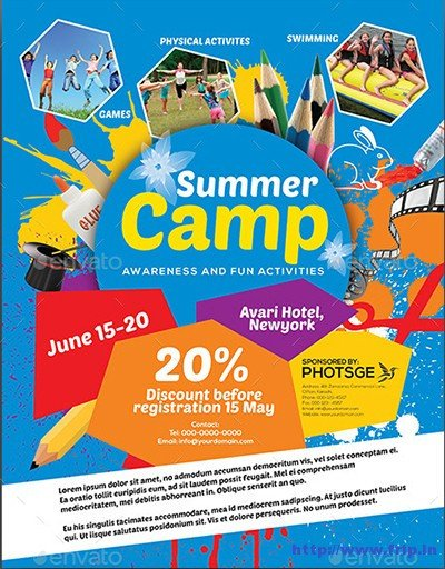 Summer Camp Flyer Template 40 Best Kids Summer Camp Flyer Print Templates 2016