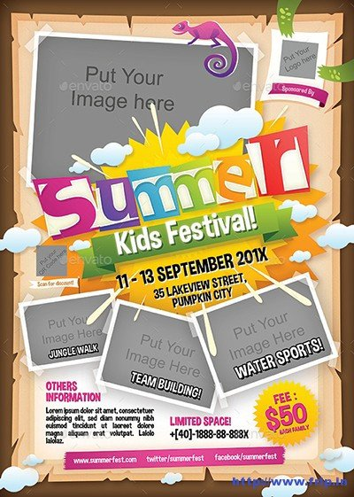 Summer Camp Flyer Template 50 Best Kids Summer Camp Flyer Print Templates 2019