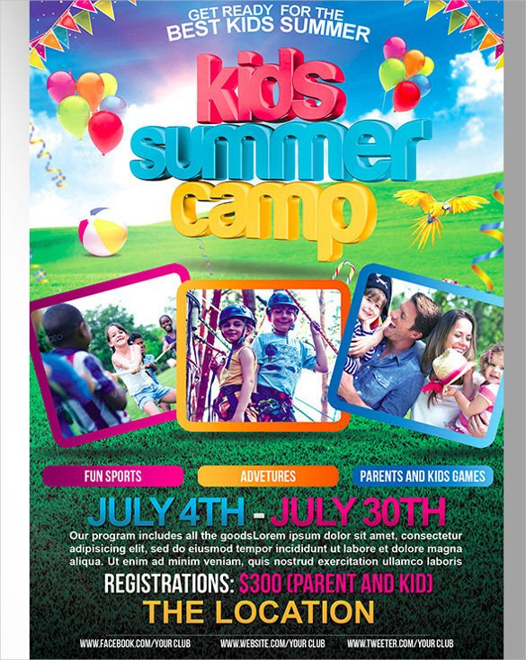Summer Camp Flyer Template 51 Summer Camp Flyer Templates Psd Eps Indesign Word