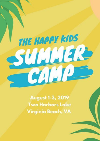 Summer Camp Flyer Template Customize 150 Summer Camp Flyer Templates Online Canva
