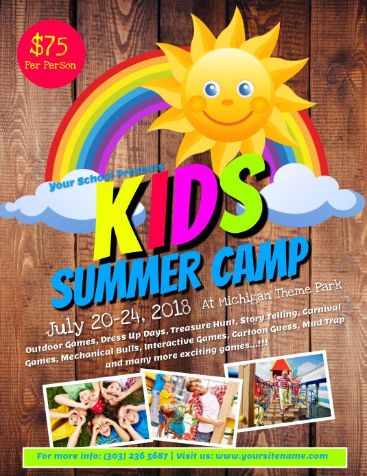 Summer Camp Flyer Template Kids Summer Camp Flyer Template