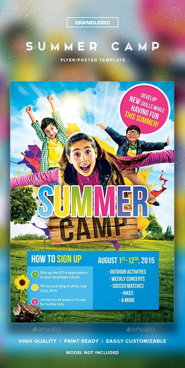 Summer Camp Flyer Template Summer Camp Flyer Poster