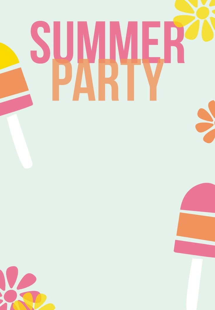 Summer Party Invites Templates 1000 Images About Printables On Pinterest