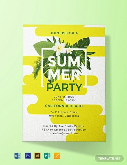 Summer Party Invites Templates 1001 Free Invitation Templates [download Ready Made