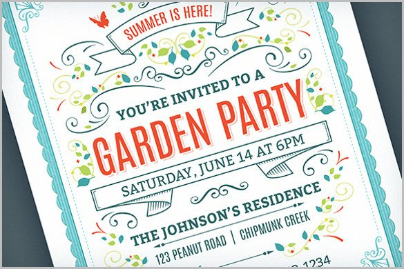 Summer Party Invites Templates 33 Party Invitation Templates Free Psd Vector Eps Ai