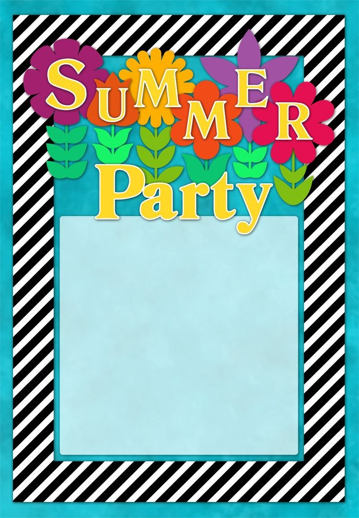 Summer Party Invites Templates 45 Best Invites Images On Pinterest