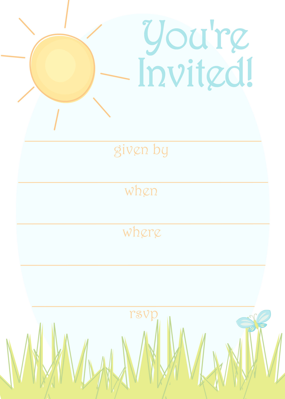 Summer Party Invites Templates Free Printable Party Invitations Sunny Day Invitation for