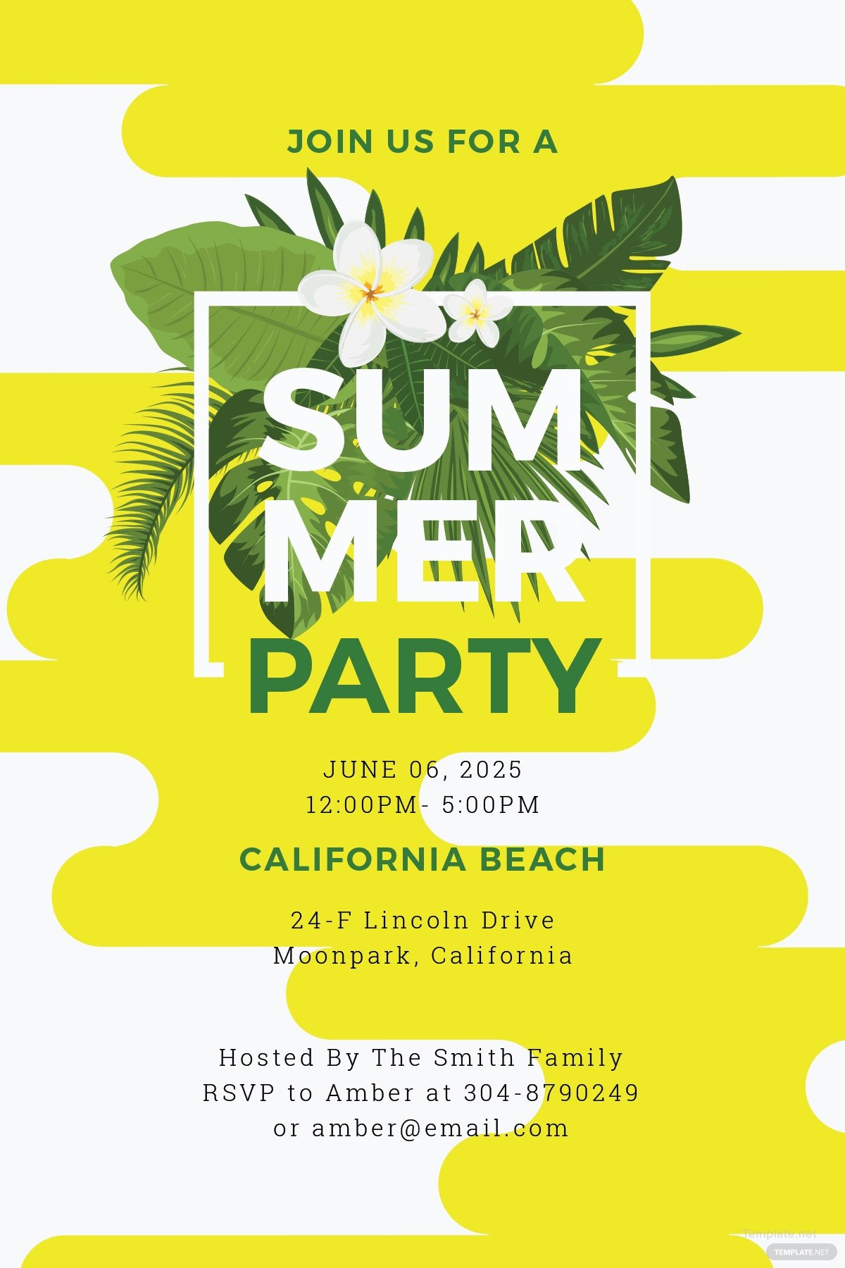 Summer Party Invites Templates Free Summer Party Invitation Template In Microsoft Word