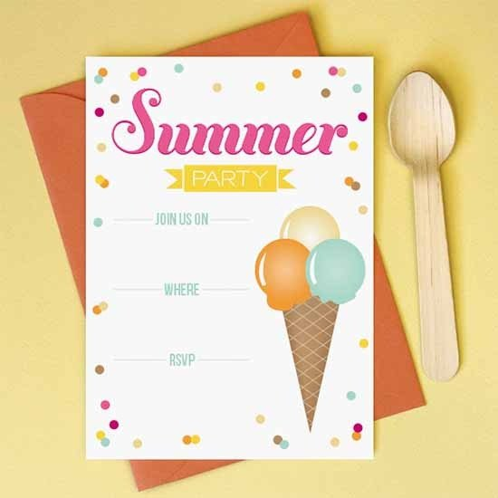 Summer Party Invites Templates Party Invitation Template Download In Psd Pdf