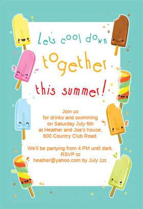 Summer Party Invites Templates Popsicle Party Free Printable Summer Party Invitation