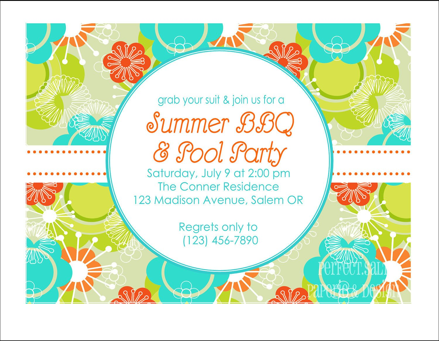 Summer Party Invites Templates Printable Summer Party Invitation Pool Party by