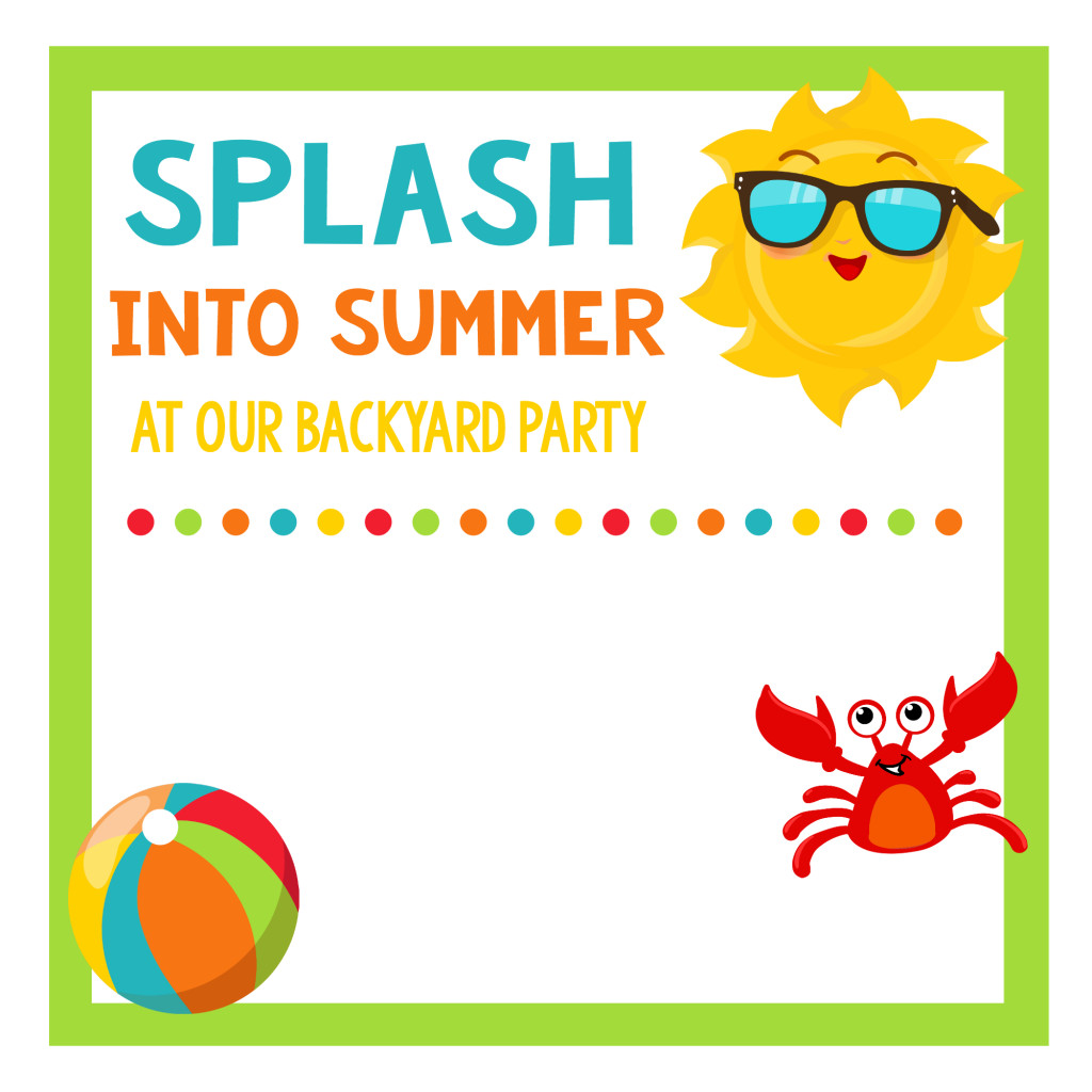 Summer Party Invites Templates School S Out Party Summer Celebration for Kids – Fun Squared