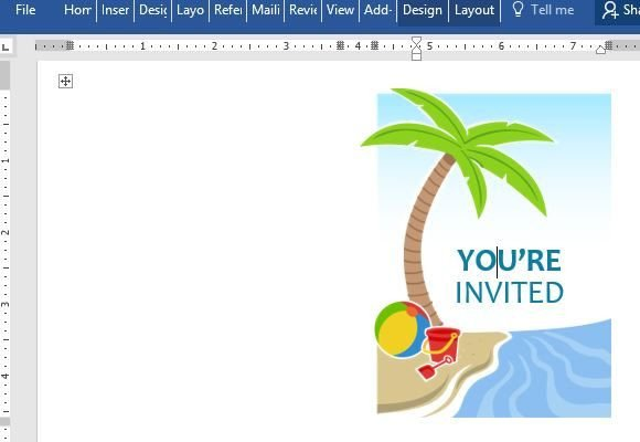Summer Party Invites Templates Summer Party Invitation Template for Word