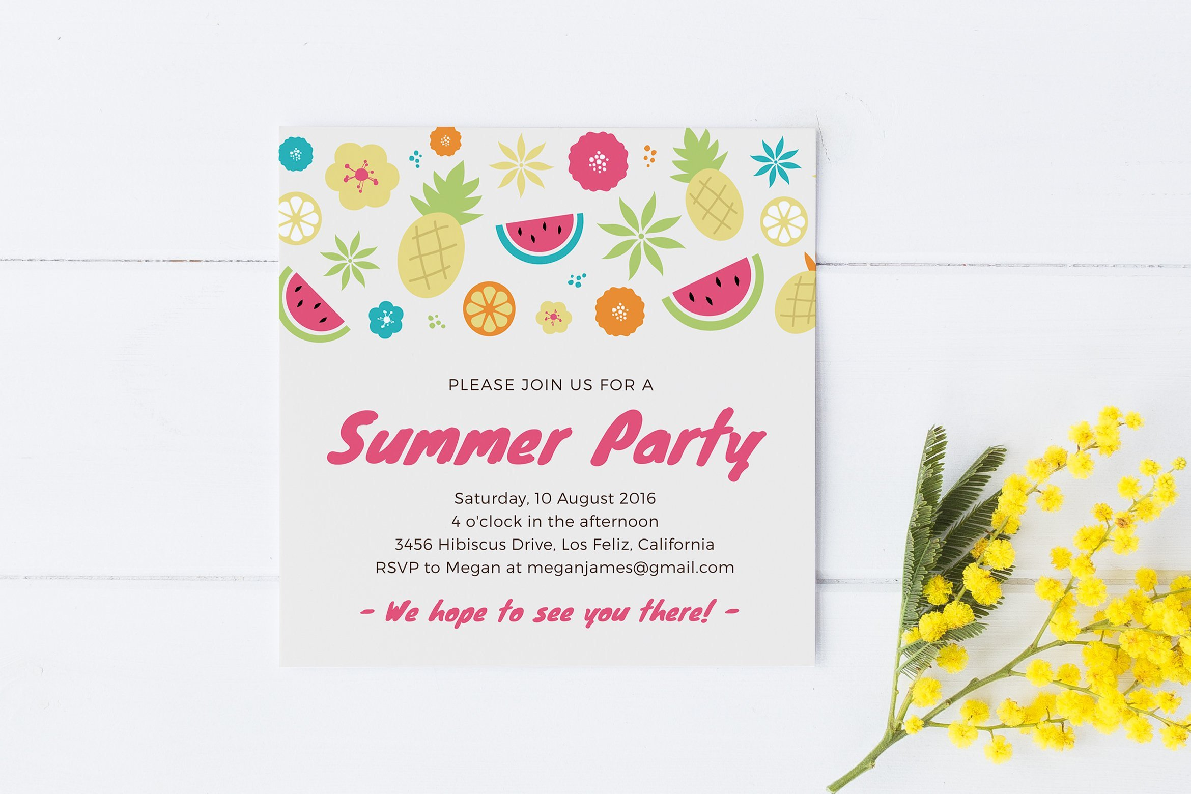 Summer Party Invites Templates Summer Party Invitation Template Invitation Templates