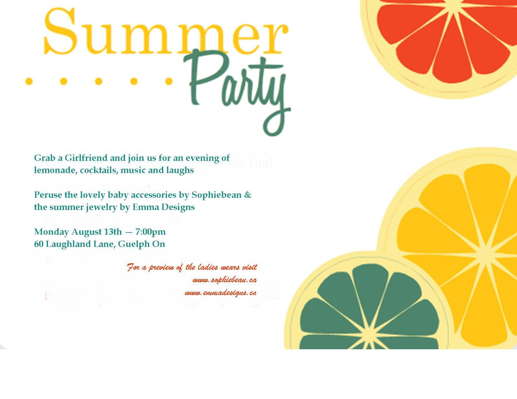 Summer Party Invites Templates Summer Party Invitation Template Summer Party Invitation