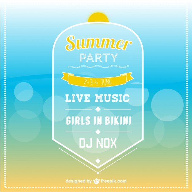 Summer Party Invites Templates Summer Party Invitation Template Vector