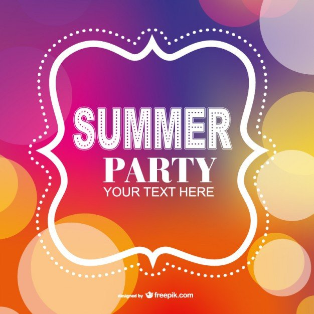 Summer Party Invites Templates Summer Party Poster Invitation Template Vector