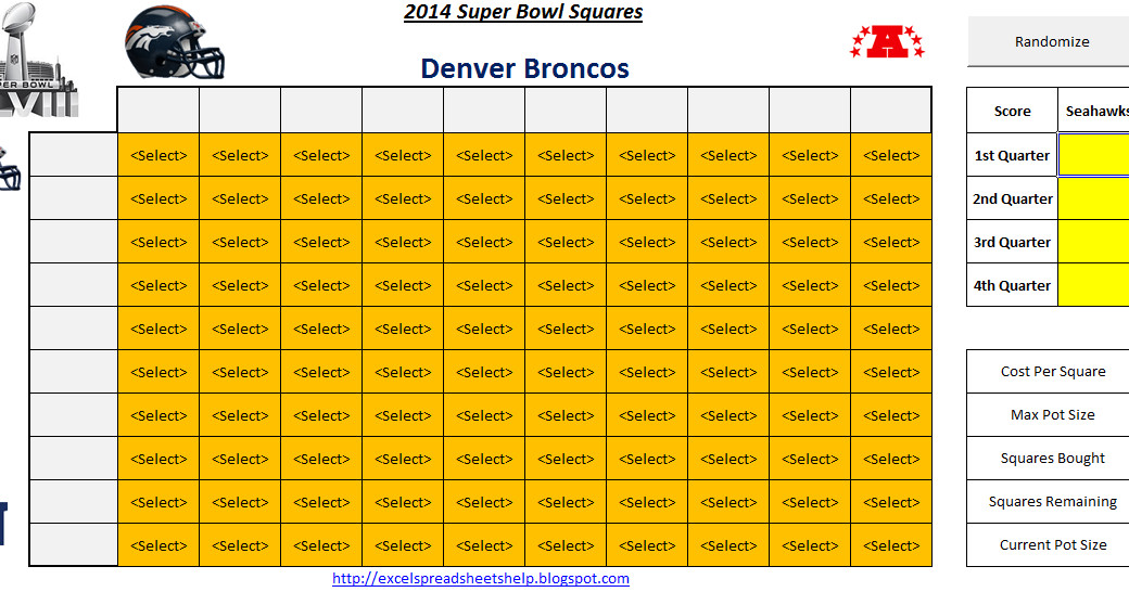 Super Bowl Squares Template Excel Excel Spreadsheets Help Super Bowl Squares 2014 Spreadsheet