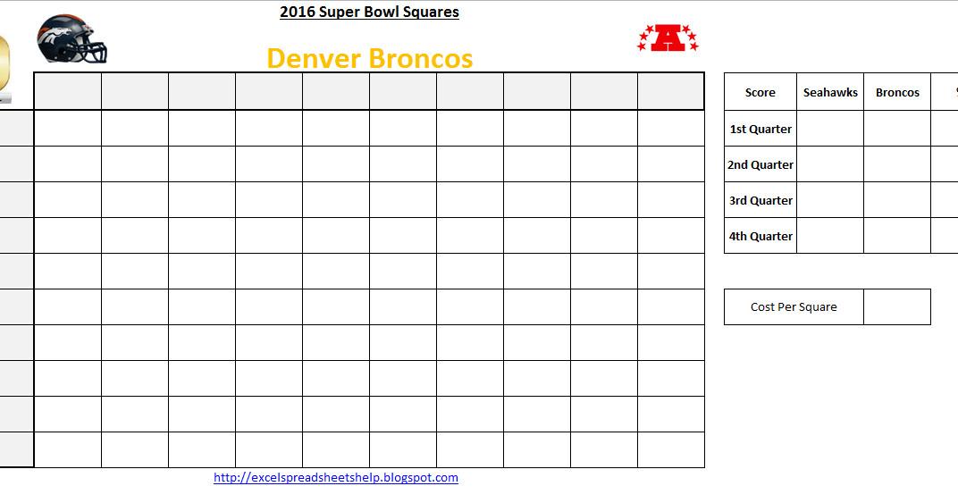 Super Bowl Squares Template Excel Excel Spreadsheets Help Super Bowl Squares 2016 Excel