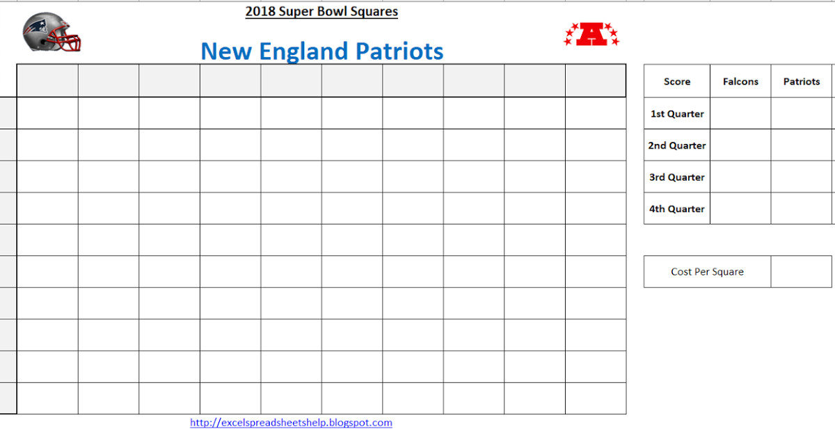 Super Bowl Squares Template Excel Excel Spreadsheets Help Super Bowl Squares Template 2018