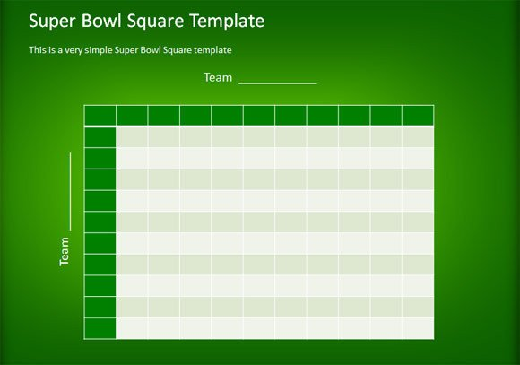 Super Bowl Squares Template Excel How to Make A Simple Football Squares Template Using