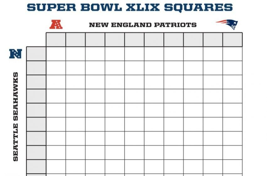 Super Bowl Squares Template Excel Super Bowl Squares Template