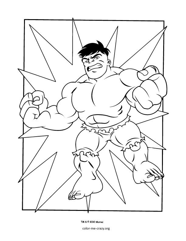 Super Heroes Coloring Page Colormecrazy Super Hero Squad Coloring Pages