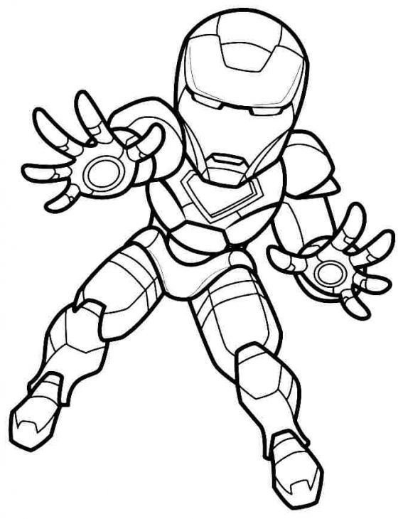 Super Heroes Coloring Page the Iron Man From Super Hero Squad Coloring Page Line