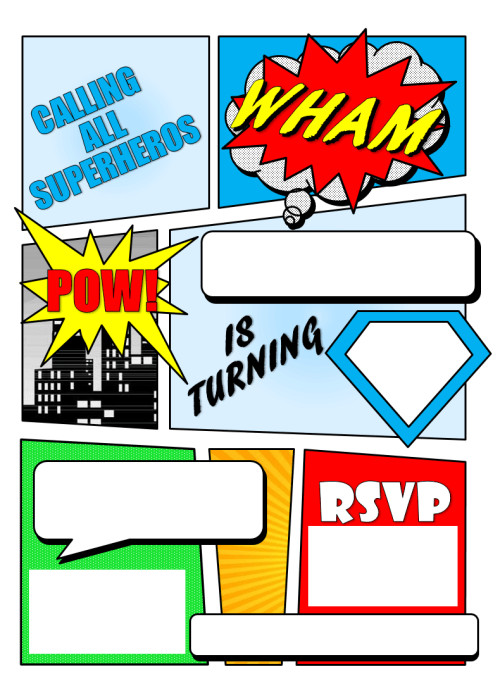 Superhero Invitation Template Free 12 Free Printable Blank Superhero Birthday Invitation